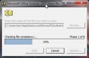 Solving Outlook 2007 Problems with Scanpst.exe